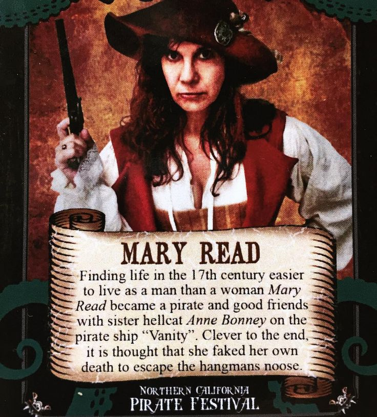 Famous pirates!  Talk Like A Pirate Day. Mary Read lived around 1685-1721. Pirates!