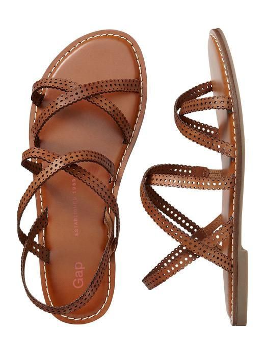 Perforated multi-strap sandal Product Image