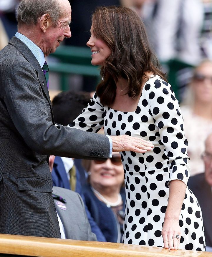 """113 Likes, 1 Comments - Kate Middleton (@catherine_mountbatten_windsor) on Instagram: """"Catherine and the Duke of Kent today at a Wimbledon match.Catherine looks so good❤…"""""""