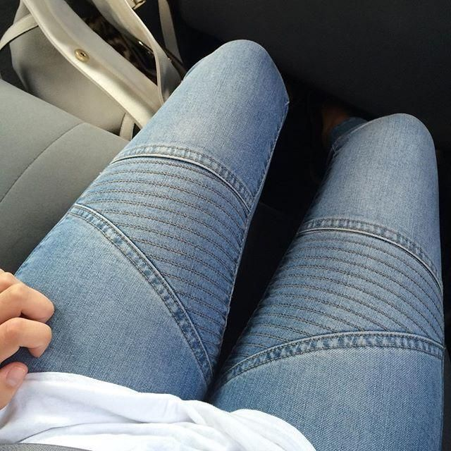 Our super skinny moto jeans! Show us your look. Tag #dynamitestyle