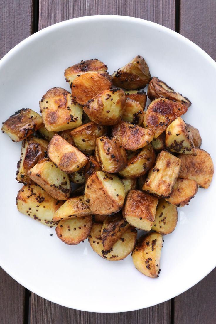 Roasting Potatoes The best roasted potatoes are boiled in salted water and roasted in the oven for a perfectly soft interior and supercrunchy exterior. The other secret ingredient — whole-grain mustard — takes their flavor to the next level.