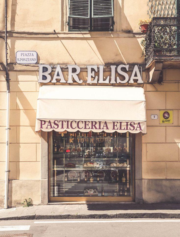 Bar Elisa Lucca old signs travel Tuscany