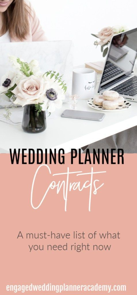 Wedding Planner Contracts Your Key To Success Blogging Small Biz Digital Influencer Resources Pinterest And Business