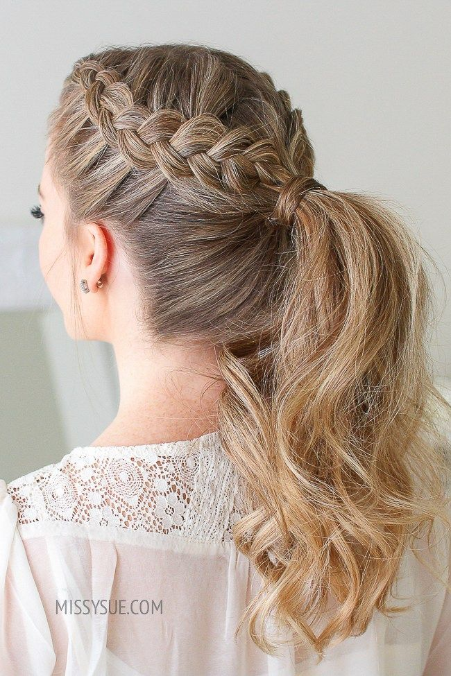16 Cute Stylish Hairstyles For The Gym Tutorials Kat Blossom In 2020 Braided Hairstyles Braided Ponytail Braided Hairdo