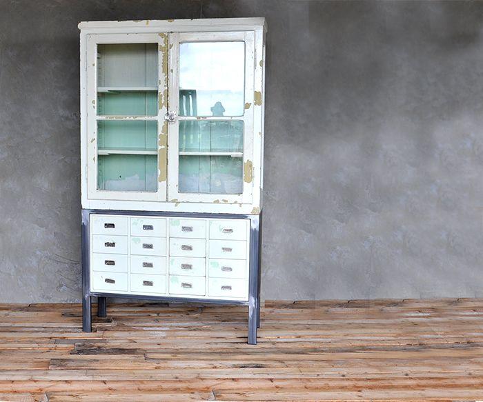 VETRINA E CASSETTI Vintage Mobili interior design recupero SESTINI E CORTI SHOP ONLINE