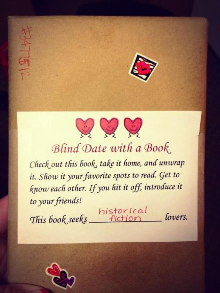 Blind Date with a Book... Love this!