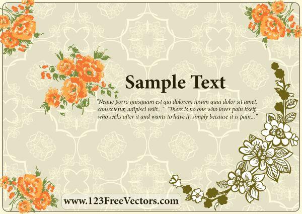 16 best free wedding vector art images on pinterest vector art flower wedding invitation card stopboris Gallery