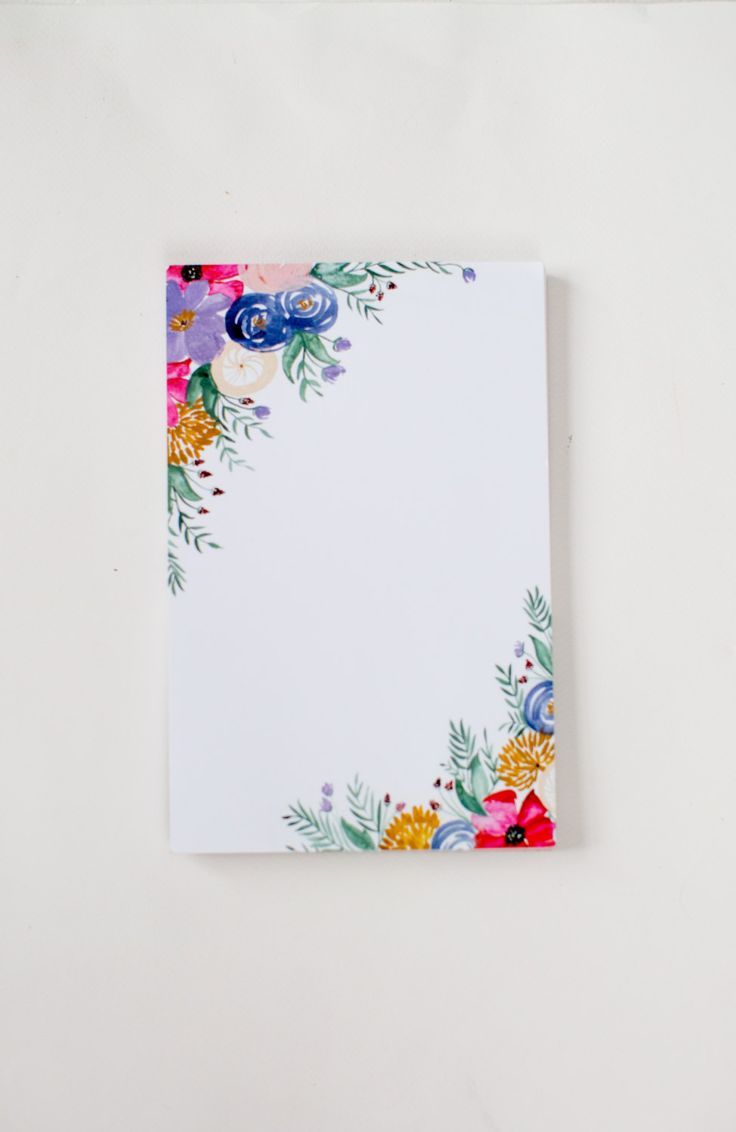 Floral Notepad - Watercolor Painted Flowers - Office Accessories - 5.5' x 8.5' by ShannonKirsten on Etsy