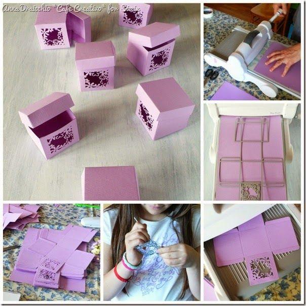 cafe creativo - sizzix big shot plus starter kit - favor box - scatolina bomboniera - tutorial