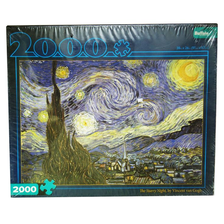 Vincent van Gogh The Starry Night Sealed Jigsaw Puzzle 2000 pcs By Buffalo Games #BuffaloGames