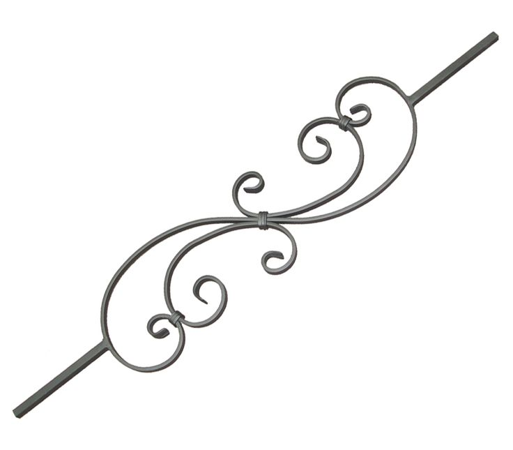 Custom Ornamental Iron Works  Tubing Baluster Scroll Design www.customironworks.com