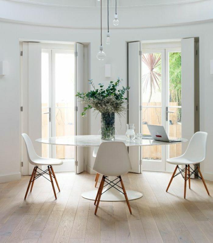 Cheap Salon Plein De Lumire Salle A Manger Noire Et Blanche Ronde Design  With Table Ronde Design Blanche