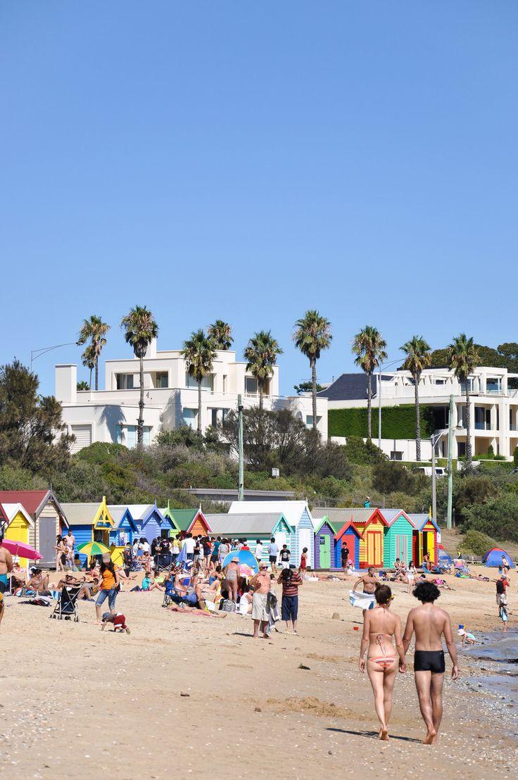 Brighton Beach in Melbourne, Victoria_ Australia
