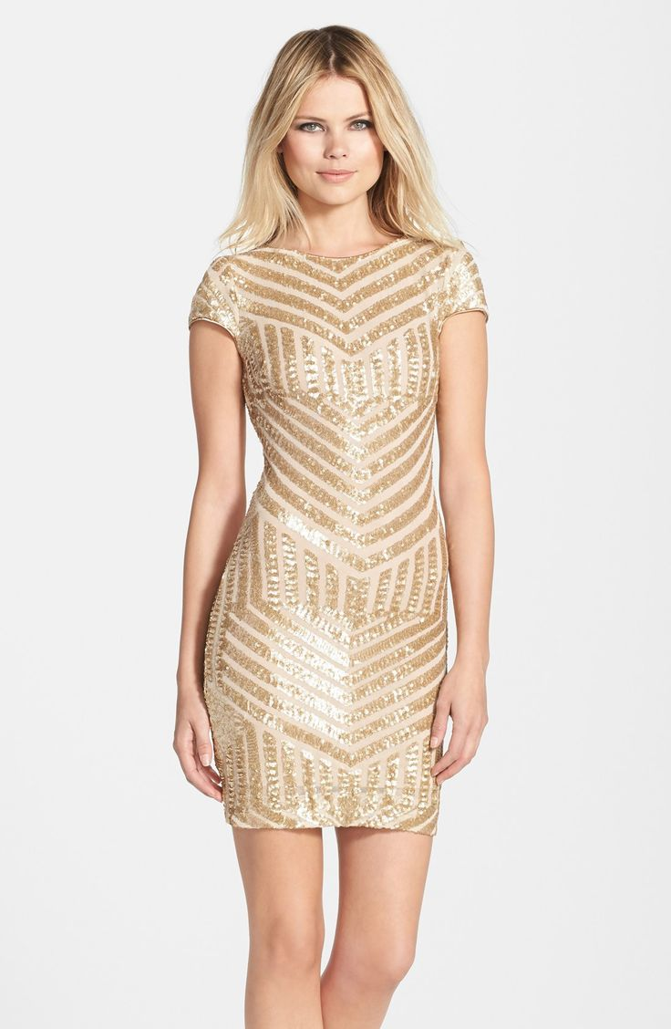 Dress The Potion Tabitha Geometric Sequin Minidress Made In Usa Of