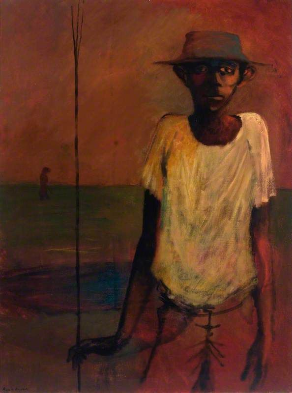 Man with a Fish Spear - Russell Drysdale