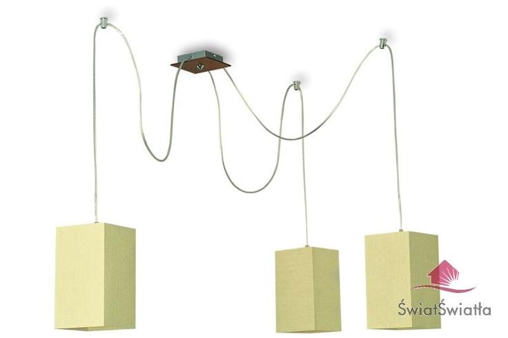 salon  Eko lampa wisząca potrójna Ecru
