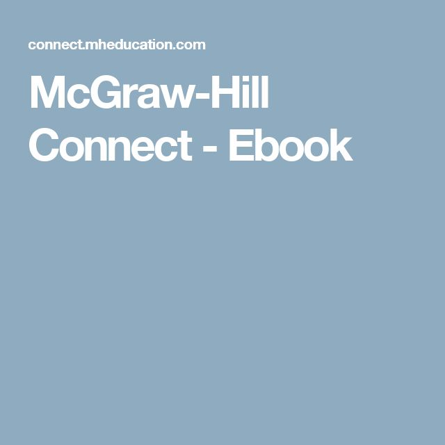 Best 25 connect mcgraw hill ideas on pinterest mcgraw hill mcgraw hill connect ebook fandeluxe Choice Image