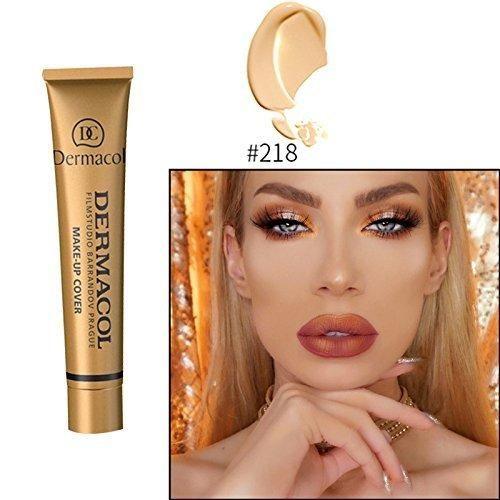 2017 Hot 13 colors 100% Original Dermacol base primer corrector concealer cream makeup base tatoo consealer face foundation contour palette 30g (#218)