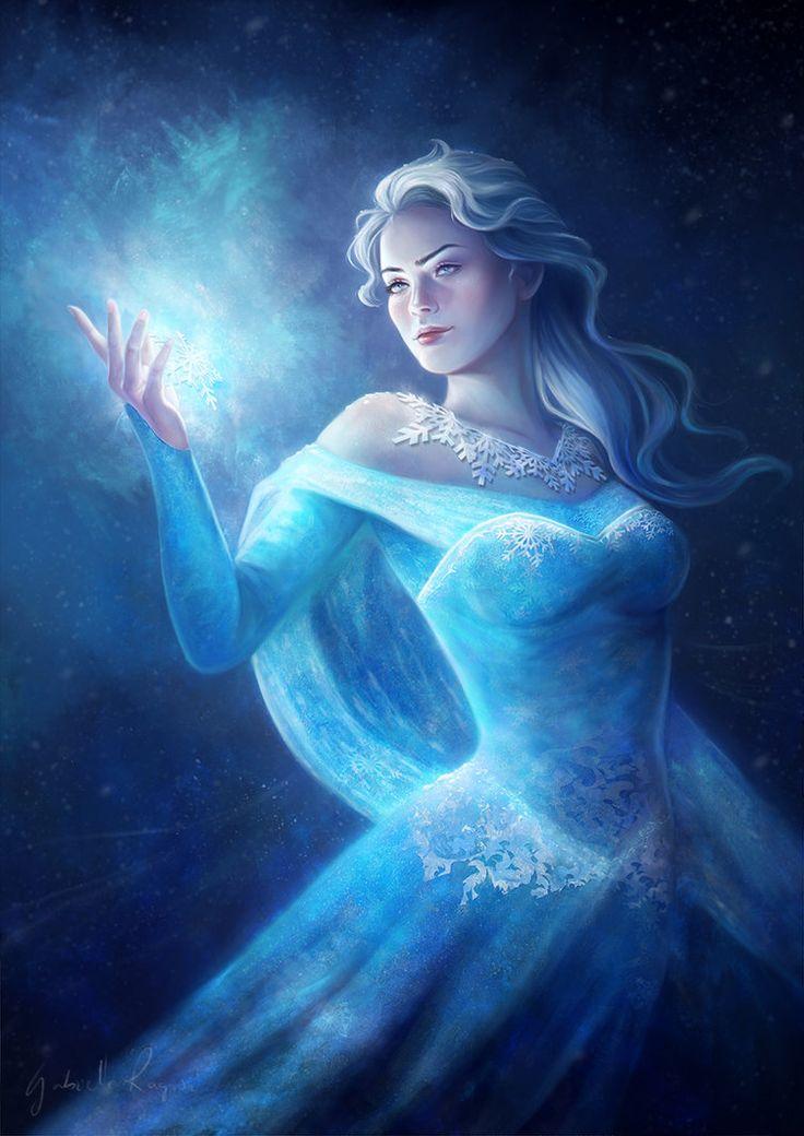 Картинки фэнтези снежная королева появлением