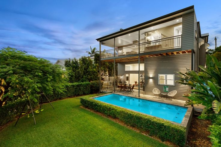 Low raised pool Lifebox Design - Residential Design & Planning in Brisbane
