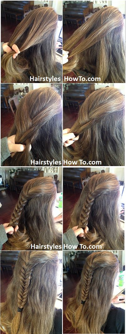 Half Up Fishtail Braid Tutorial