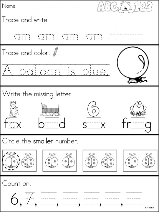 1000 images about KindergartenFirst Grade Worksheets on – Kindergarten and First Grade Worksheets