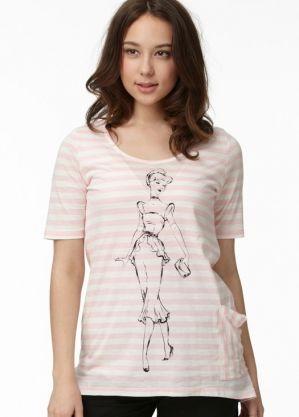 Disney Princess Cotton Maternity & Breastfeeding Top Nomor produk:13804