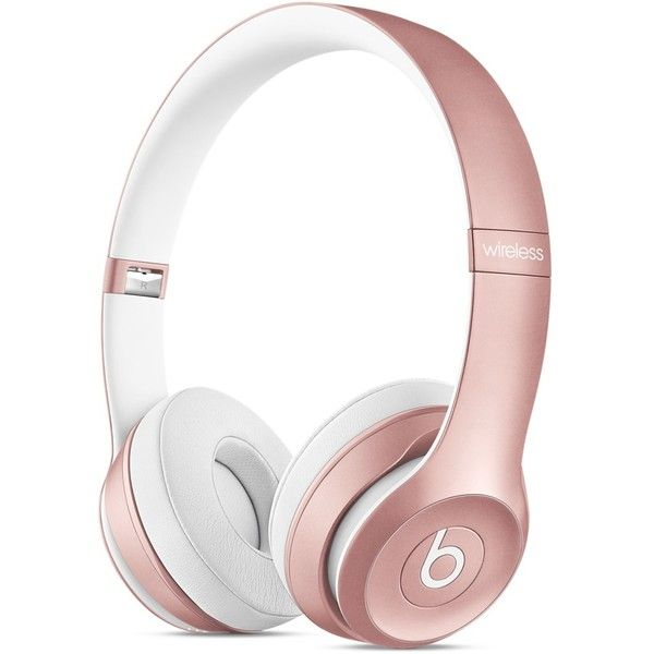 Audífonos tipo diadema Solo2 Wireless de Beats Color oro ($301) ❤ liked on Polyvore featuring accessories, headphones, electronics and tech