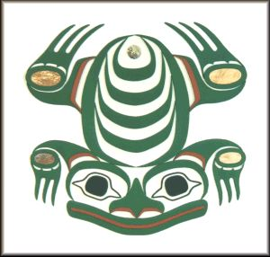 """Art of Alaska and the Pacific Northwest Coast. """"Frog Totem 11"""""""