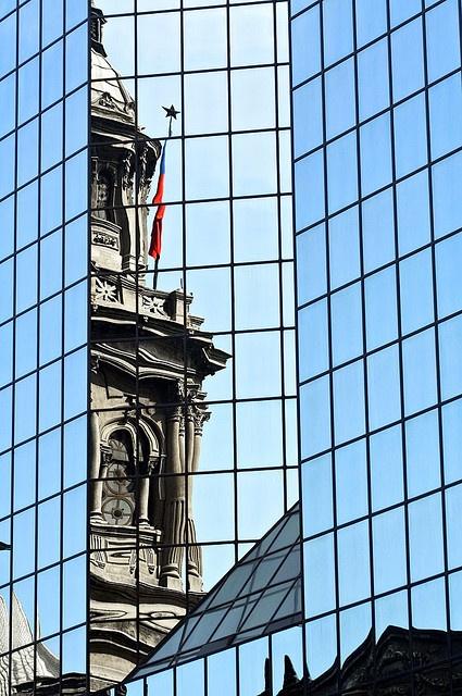 Cathedral Reflection - La Catedral de Santiago, CHILE