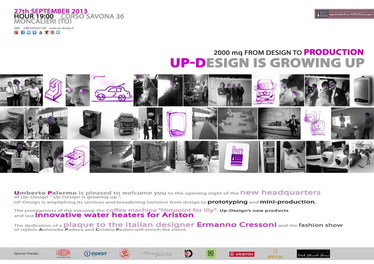 Umberto Palermo is glad to welcome you to the opening night of the new Headquarters of Up-Design.  The event will take place on 27Th September 2013 at 7 pm in c.so Savona 36, Moncalieri (TO) – Italy