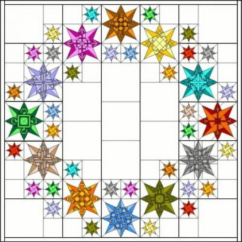 Zodiac Stars from BoM 2012 Ulas Quiltseite