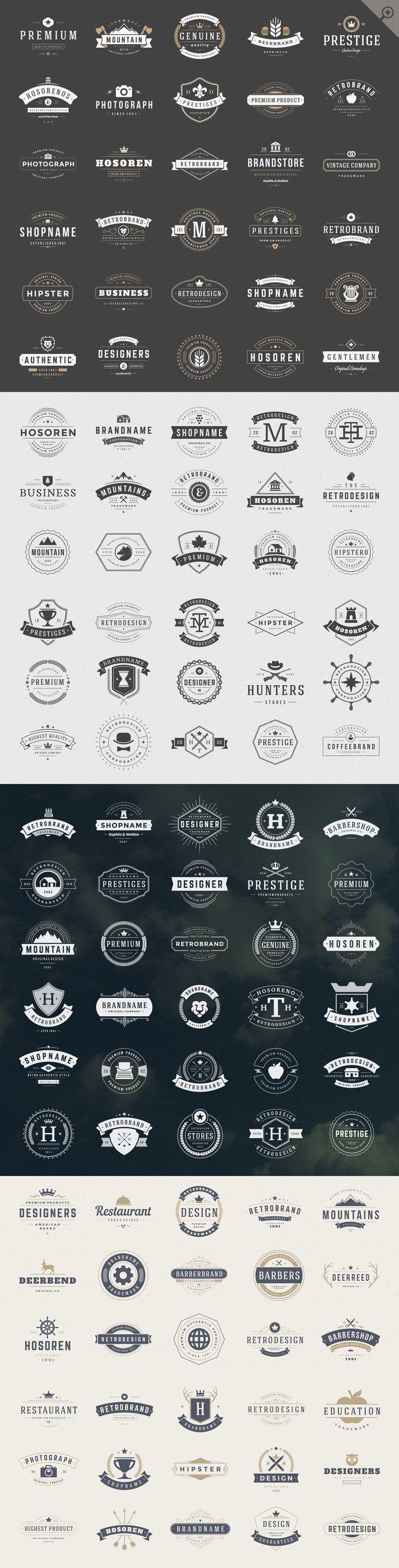 420 Vintage logotypes and badges by Vasya Kobelev on @creativemarket