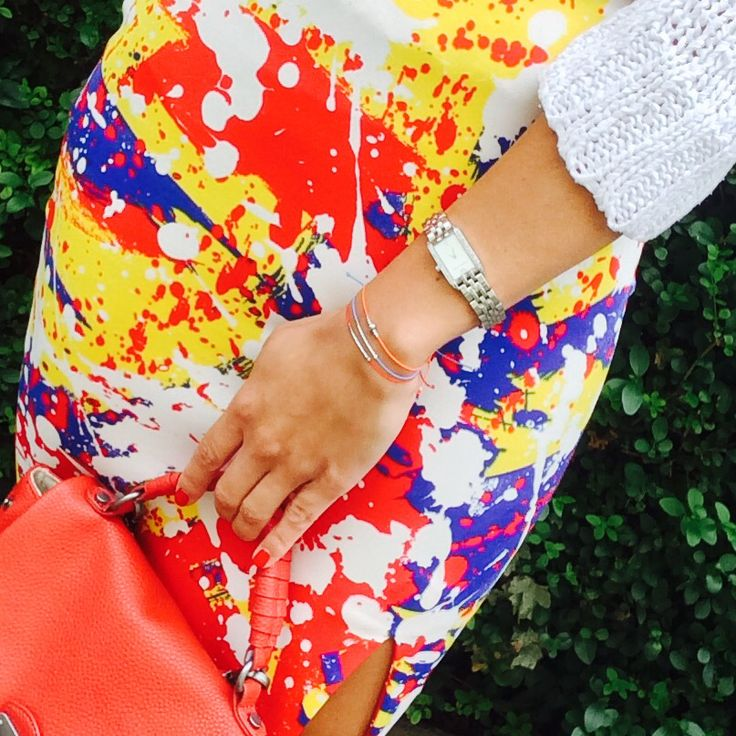 Colour blocking with D'ery bracelets