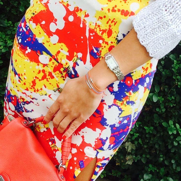 Colour blocking with D'ery bracelets