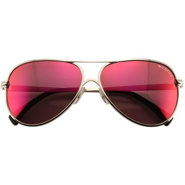 Wildfox Airfox 2 Deluxe Sunglasses found on Polyvore featuring accessories, eyewear, sunglasses, glasses, mirror lens aviators, mirrored sunglasses, mirror lens sunglasses, mirror glasses and mirrored aviator sunglasses
