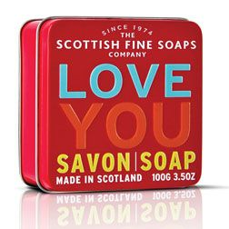Scottish Fine Soaps in a tin