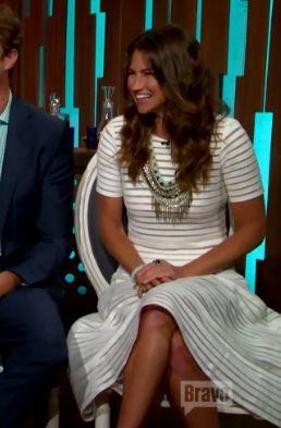 Southern Charm Season 2 Reunion Fashion: Landon Clement's White Crop Top, Skirt & Necklace | http://www.bigblondehair.com/reality-tv/southern-charm-reunion-landon-clements-white-crop-top-skirt-necklace/