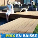 Lame de terrasse composite Dixi rouge 220 x 14,5cm, ép. 21mm