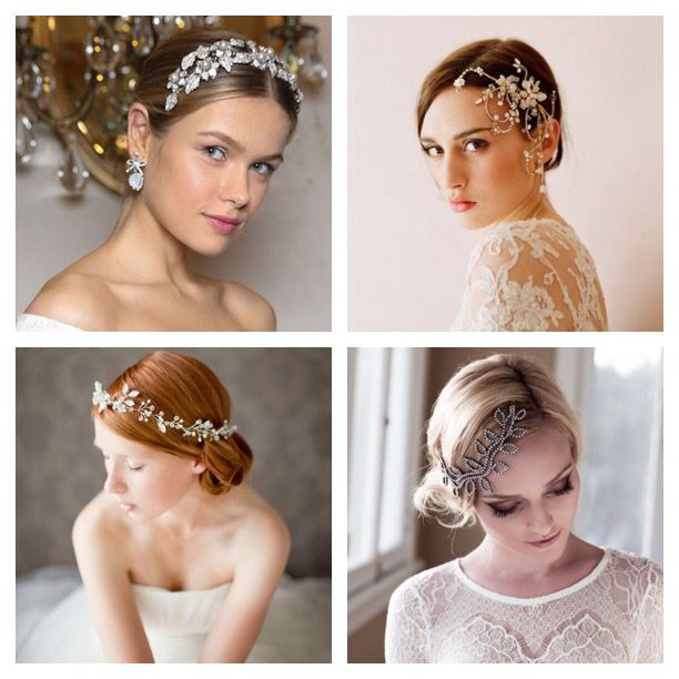 Wedding hairstyles and accessories for classic&elegant look..