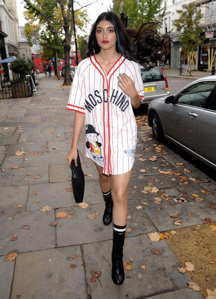Neelam Gill looks ballin' in Moschino's shirt dress <3