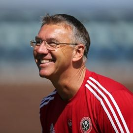 Sheffield United boss Nigel Adkins looks ahead to the first round of the Johnstone's Paint Trophy 2015/16                                  Paintball issue 1