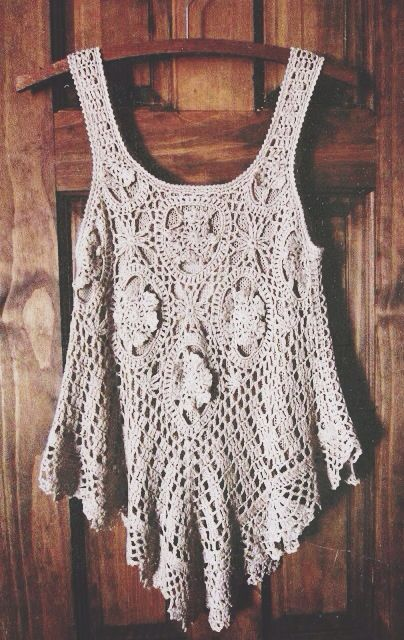 Boho Crochet Tank Top // If you know where this is from please tell me!