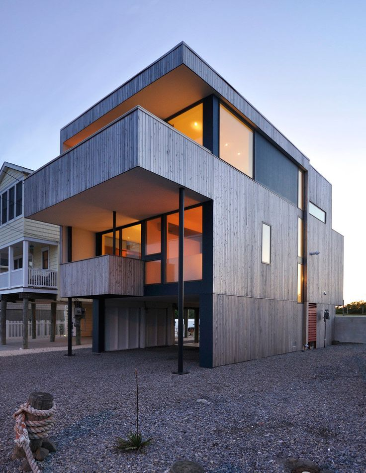 A modern beach house at the jersey shore modern winter for Beach bach designs