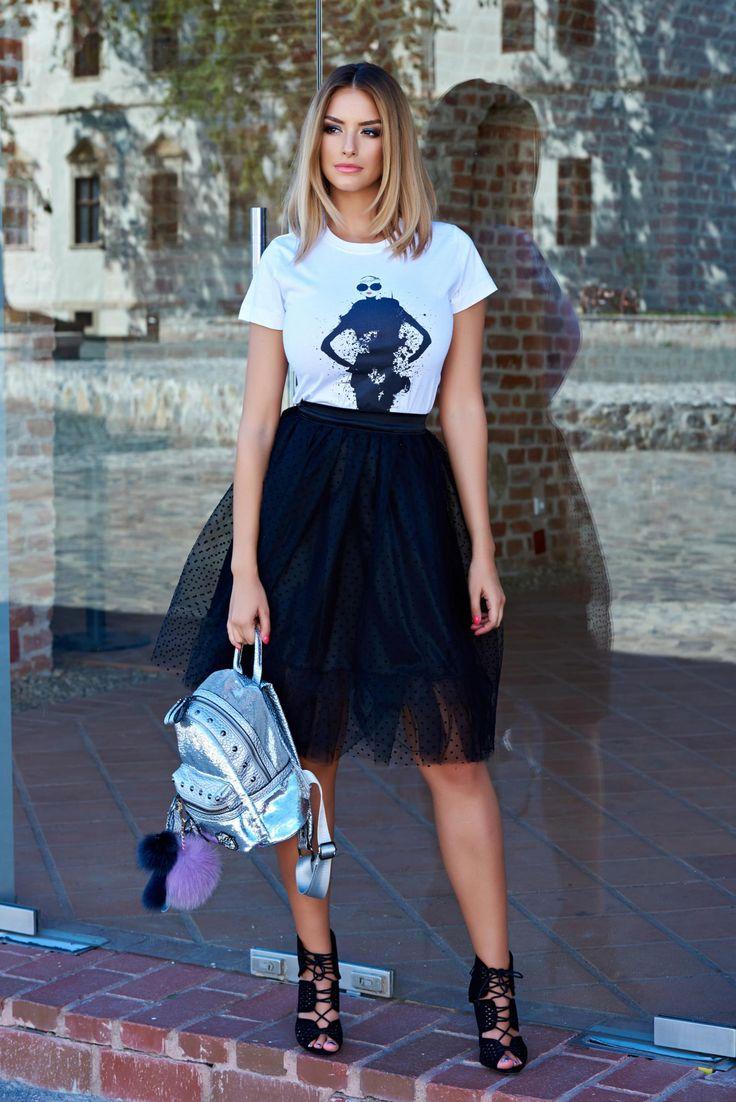 StarShinerS Back To School Black Skirt, back zipper fastening, inside lining…