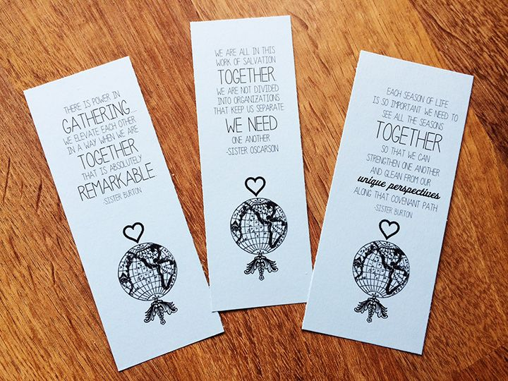 LDS General Women's Meeting - togetherness printables