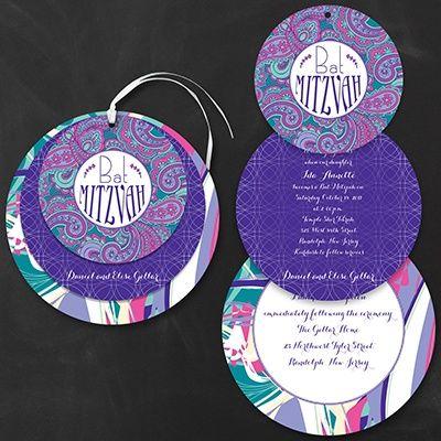 Mod Color Splash Bat Mitzvah - Invitation    | 40% OFF  |  http://mediaplus.carlsoncraft.com/Parties--Celebrations/Bar--Bat-Mitzvah-Invitations/3166-NKN4459-Mod-Color-Splash-Bat-Mitzvah--Invitation.pro