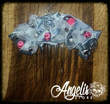 Time is of the Essence Grey Satin Hair Comb