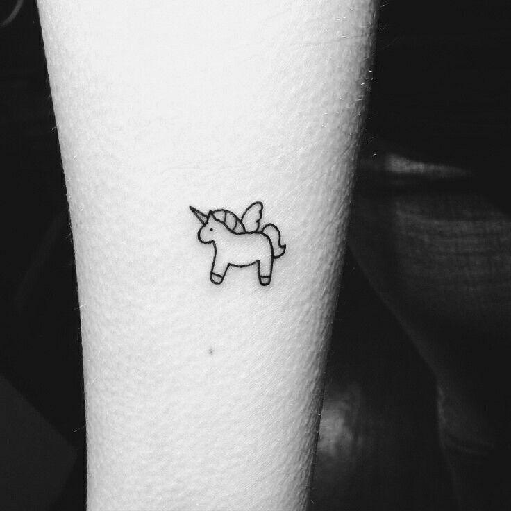 Small tiny tattoo unicorn