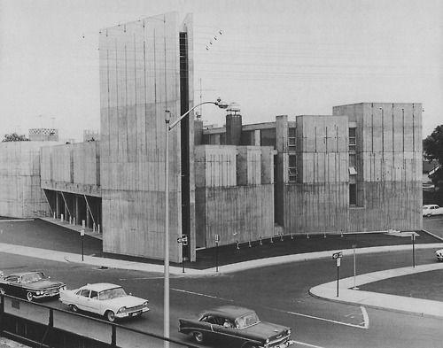 Fire Department Headquarters, New Haven, Connecticut, 1962 (Carlin, Pozzi  Associates)